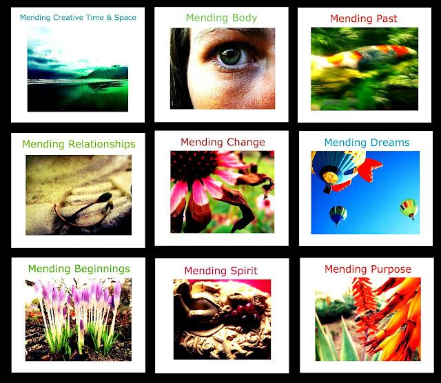 ecourse e-course mending mantras online retreat self improvement affirmations