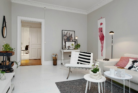 Scandinavian style with pops of pink