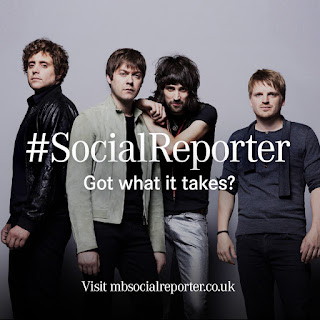 Win a chance to inteview Kasabian with Mercedez-Benz Social Reporter campaign