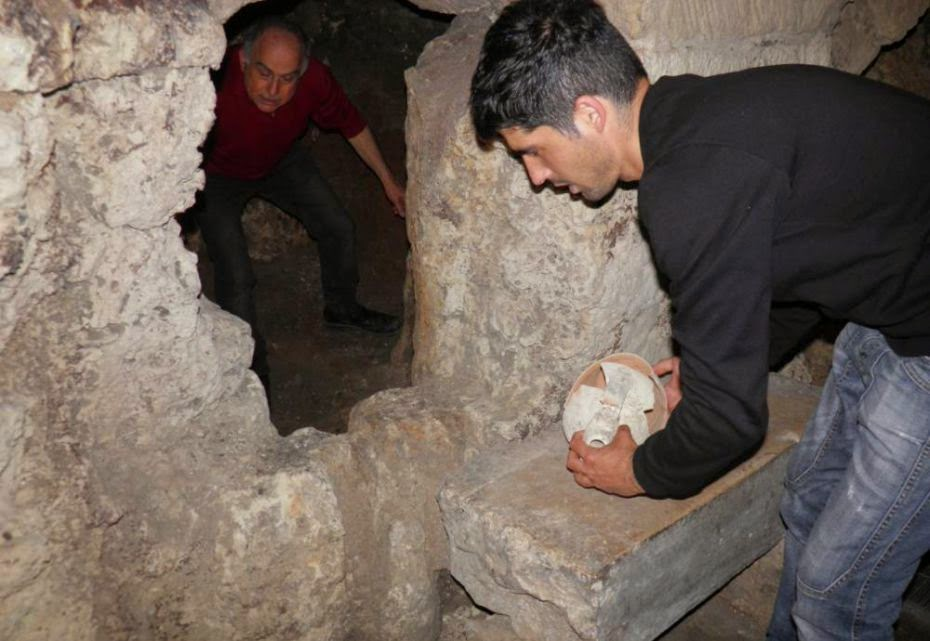 Luciano Faggiano found an ancient room with artifacts