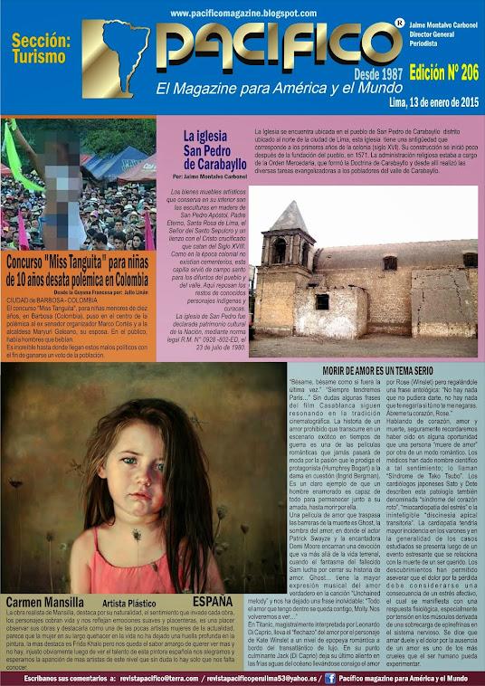 Revista Pacífico Nº 206 Turismo