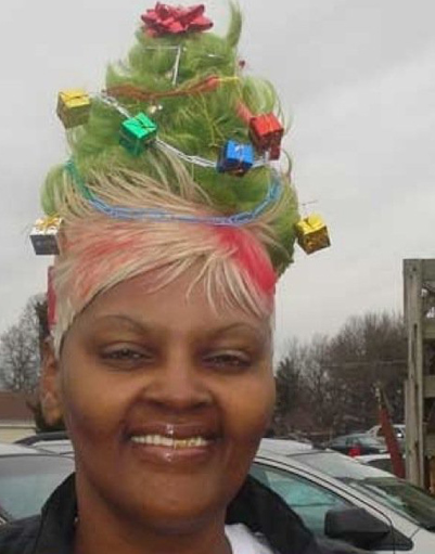 young craze crazy christmas hairstyles