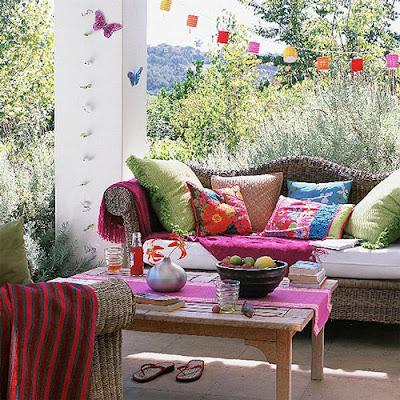 decoración de salas coloridas