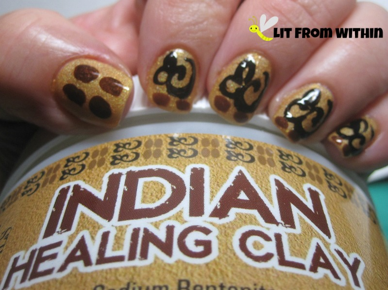 nail art inspired by Majestic Pure Indian Healing Clay