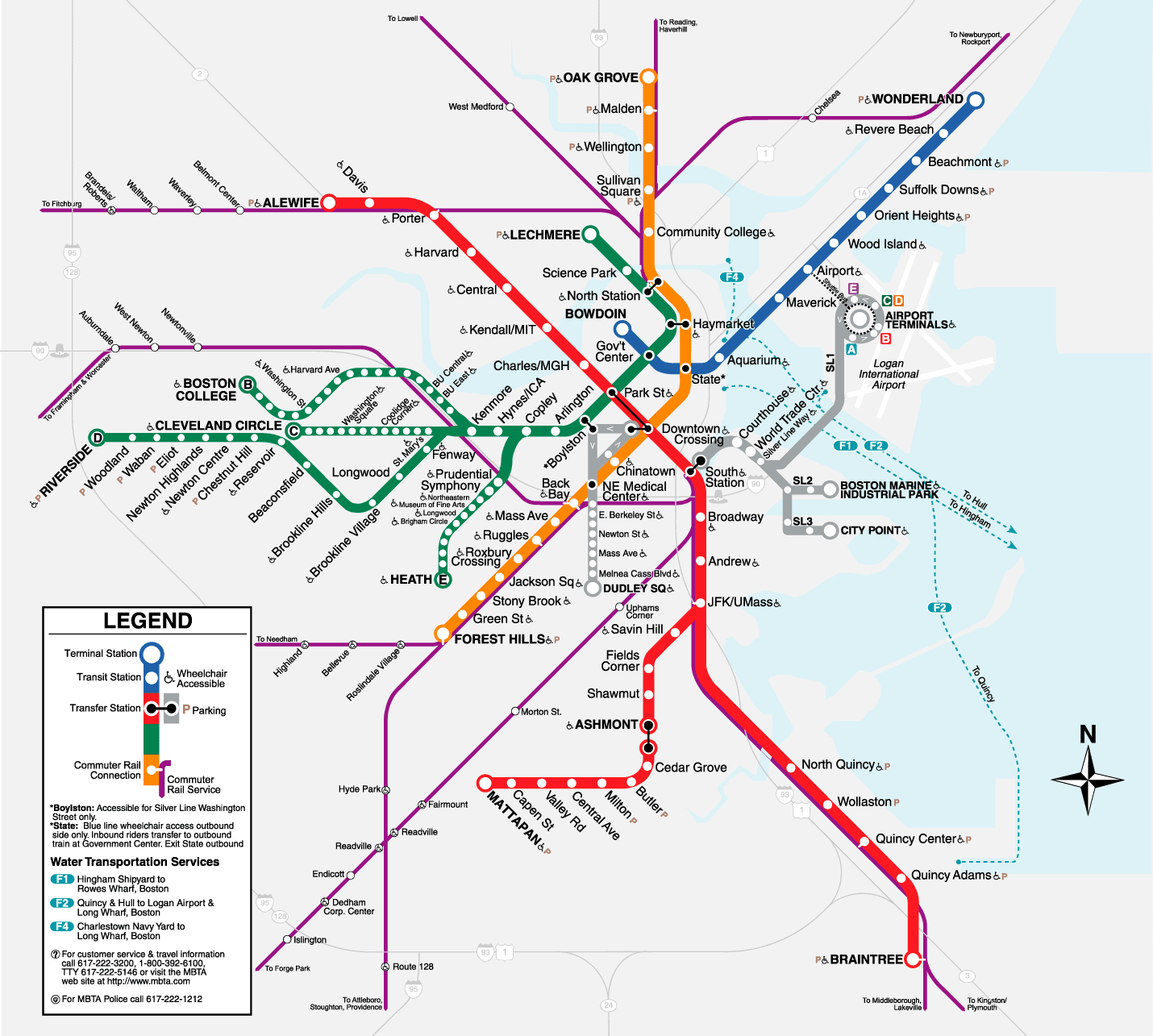 Boston T Map Free Printable Maps
