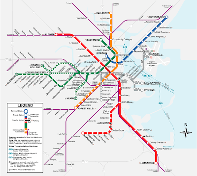Boston T Map