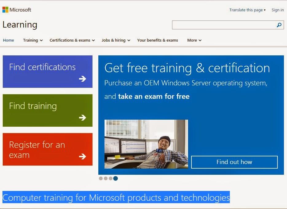 Gratis Sertifikat Dari Microsoft
