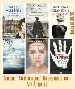 """Sorteo """"Septiembre"""" en Bookeando con MªÁngeles"""