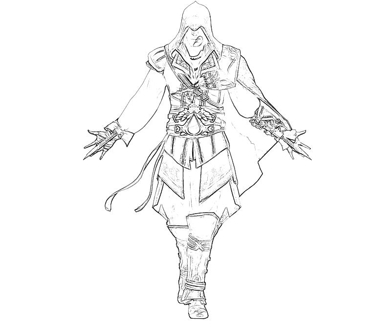 free coloring pages of assassins creed ezio