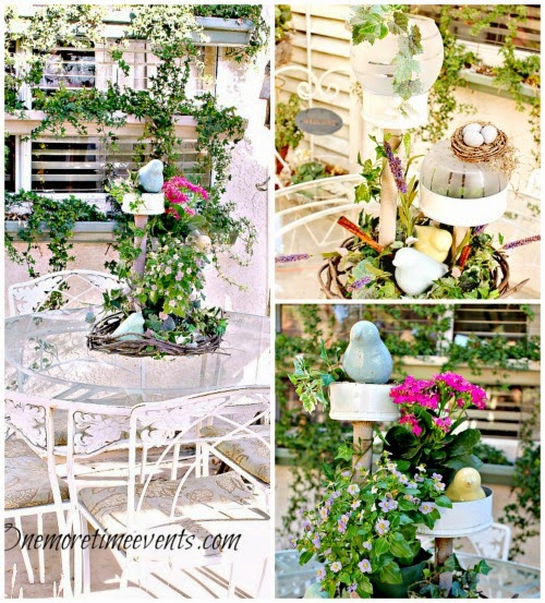 2 spring ideas for a outdoor centerpiece at One More Time Events.com