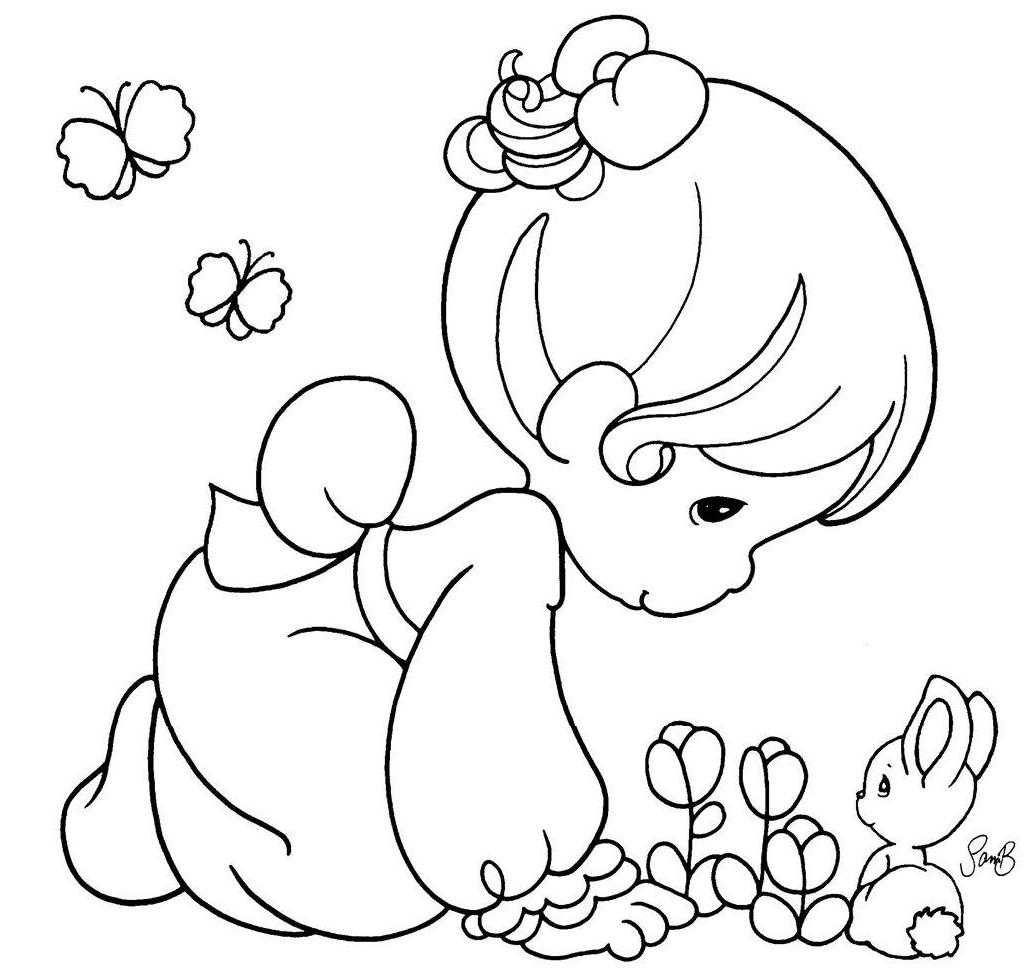 Precious moments nativity coloring pages