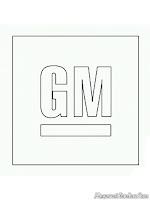 Gambar logo mobil GM untuk diwarnai