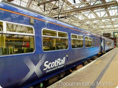 Comboio da ScotRail; Escócia Low Cost; Scotland Low Cost