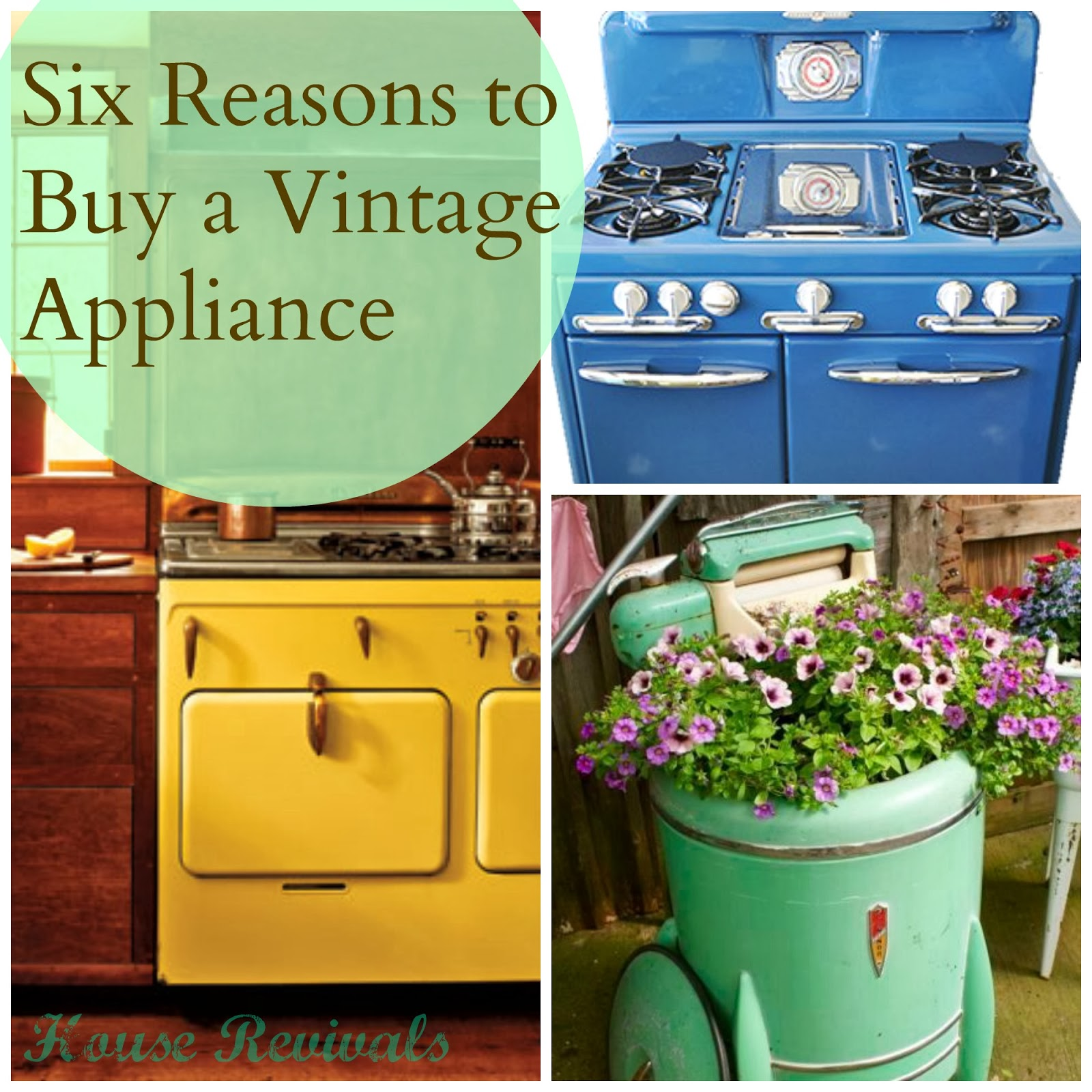 Six Reasons To Buy A Vintage Appliance For Your Home