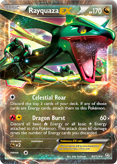 Rayquaza EX Dragons Exalted Pokemon Card