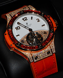 Montre Hublot Big Bang Tutti Frutti Tourbillon Orange rfrence 345.PO.2010.LR.0906