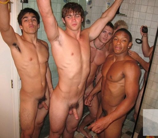 Naked Group Shower Nude