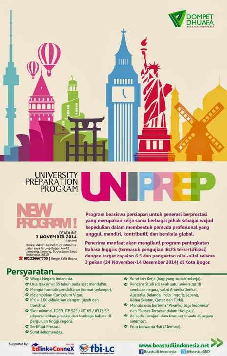 Beastudiindonesia.net Membuka Program UNIPREP  (University Preparation Program)
