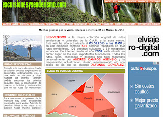 Página principal de excursionesysenderismo.com