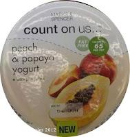 Marks & Spencer Count on us peach & papaya yogurt