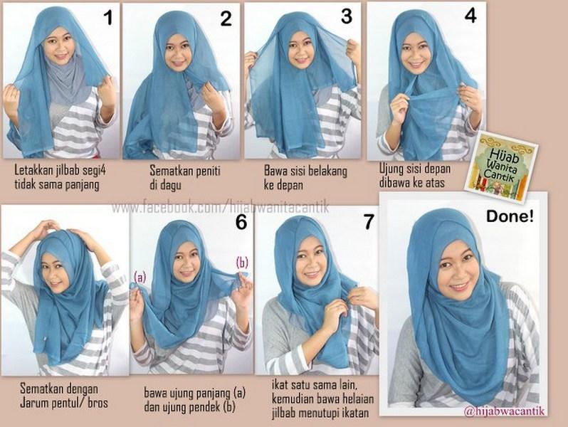 Cara Memakai Jilbab Segi Empat Simple Youtube | hnczcyw.com
