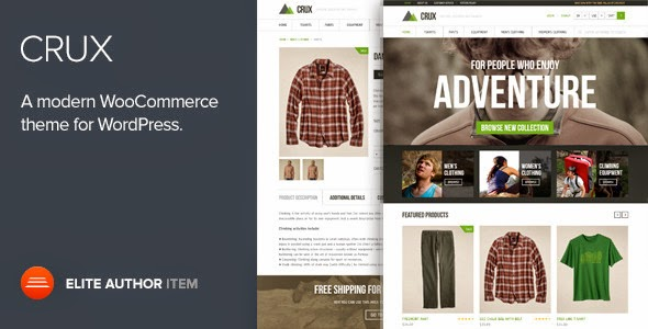 Crux – A modern and lightweight WooCommerce theme