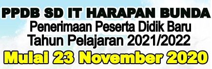 PPDB SD IT HARAPAN BUNDA