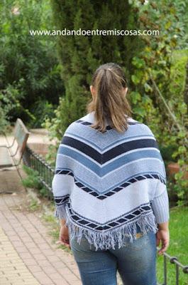 Jersey-Poncho Azul De SheIn