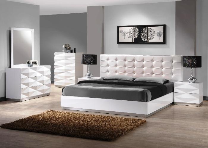Modern White Gloss Bedroom Furniture Elegant Luxury Design Ideas With Mirror Unique Rack Cabinets Antique Black