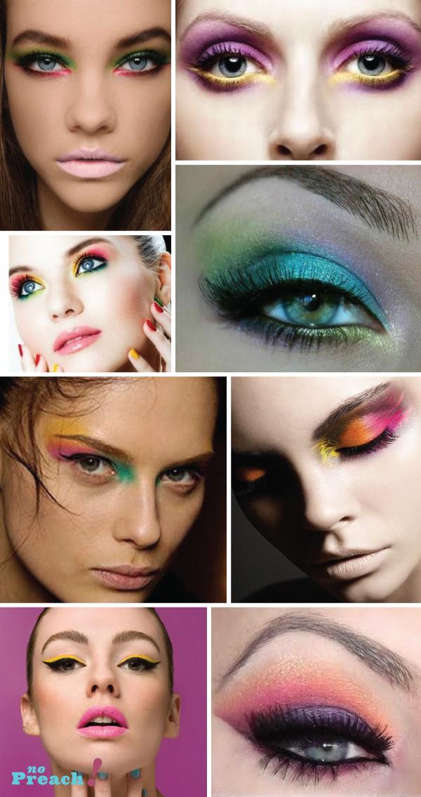 Ideias de maquiagem colorida para o carnaval