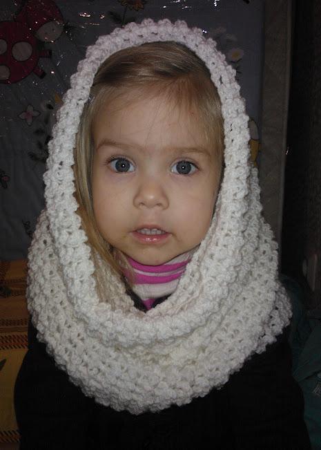 Вязаный капор шарф крючком