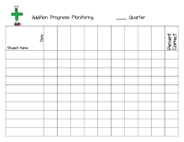 Extra Special Teaching: Math Progress Monitoring (freebie)