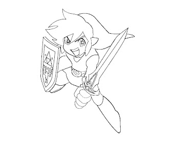 #1 Link Coloring Page