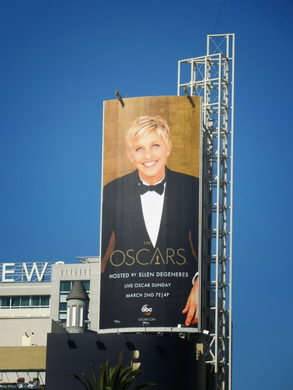 Ellen Degeneres 86th Oscars billboard