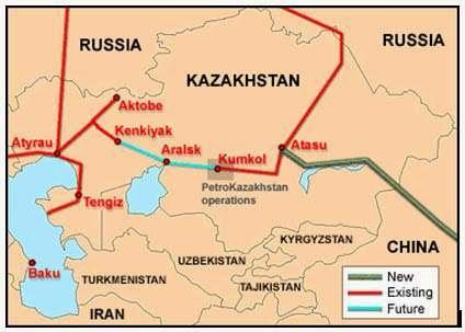 Jalur Pipa Rusia - Kazakhstan - China