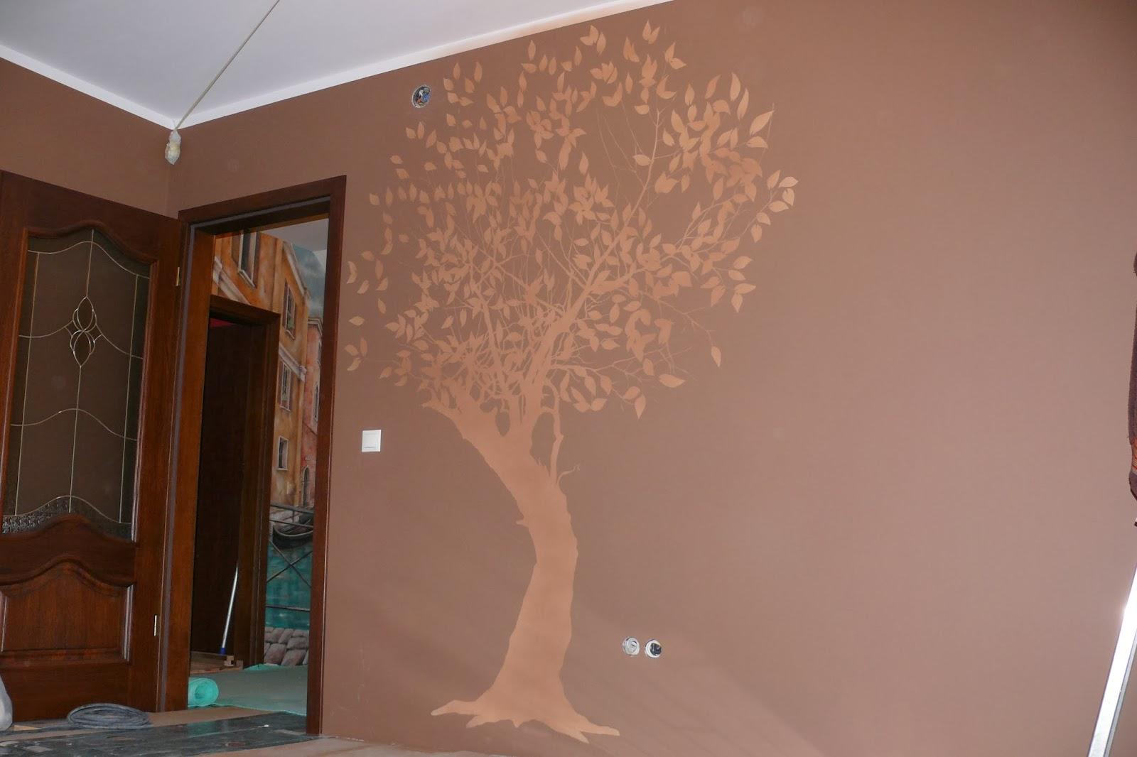 Malowanie drzewa, rtystyczne malowanie ściany w warszwie