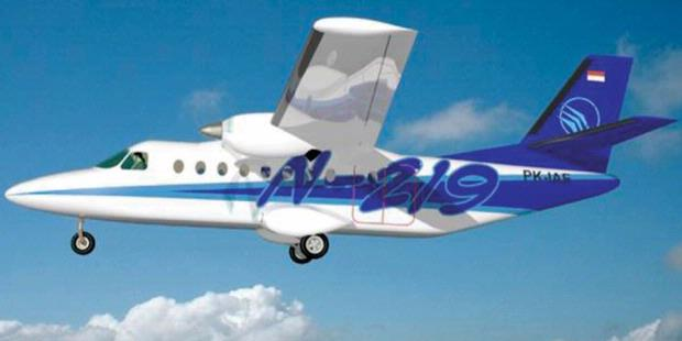 Rancangan pesawat N219 buatan PT Dirgantara Indonesia.
