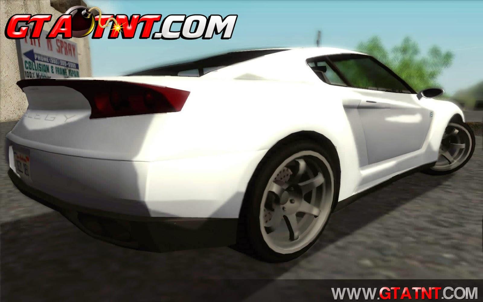Annis Elegy RH8 Convertido do GTA V para GTA San Andreas