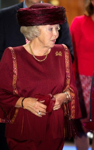 Princess Beatrix attends the Max van der Stoel Award ceremony on 02.10.2014.  The award goes to Spravedlivost, a human rights NGO in Kyrgyzstan.