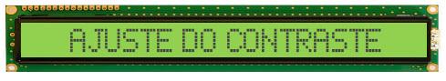 Descrição das funções dos pinos do LCD