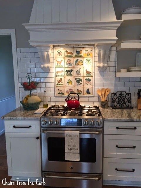 #woodenovenhood #decorativetilebacksplash