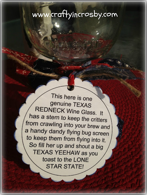 Redneck Wine Glass Tag