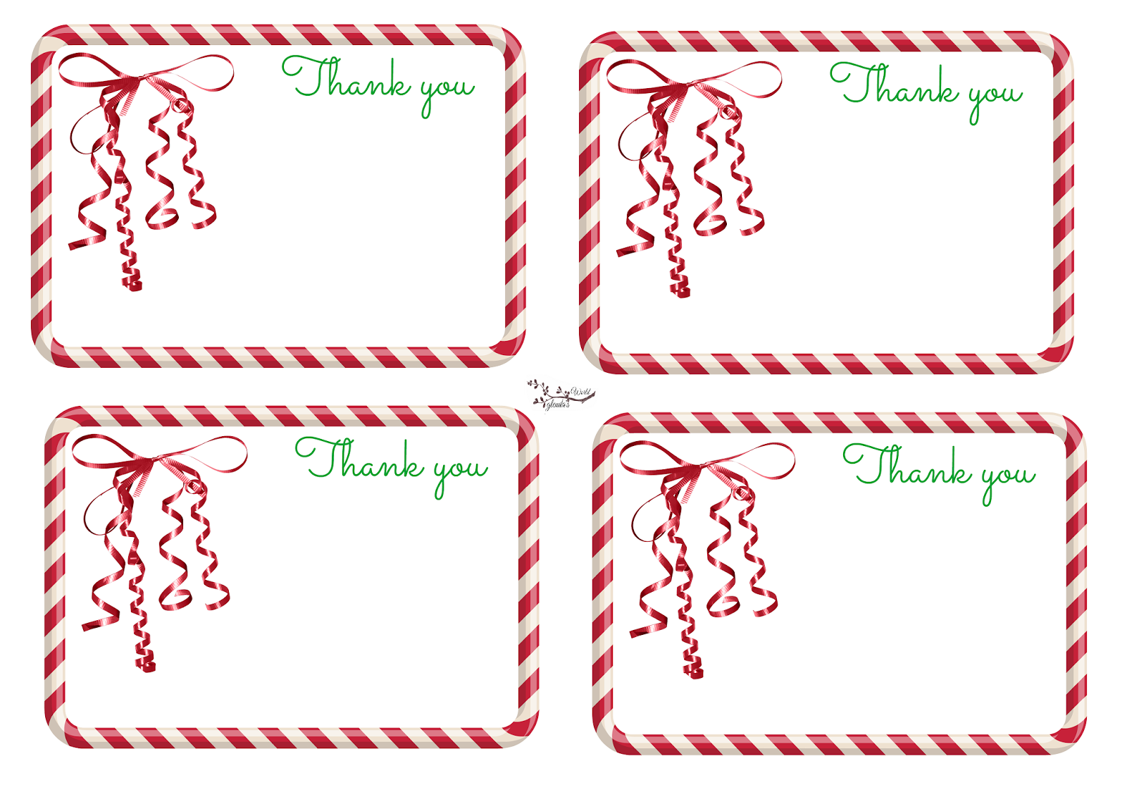It's just an image of Genius Christmas Thank You Notes Printable