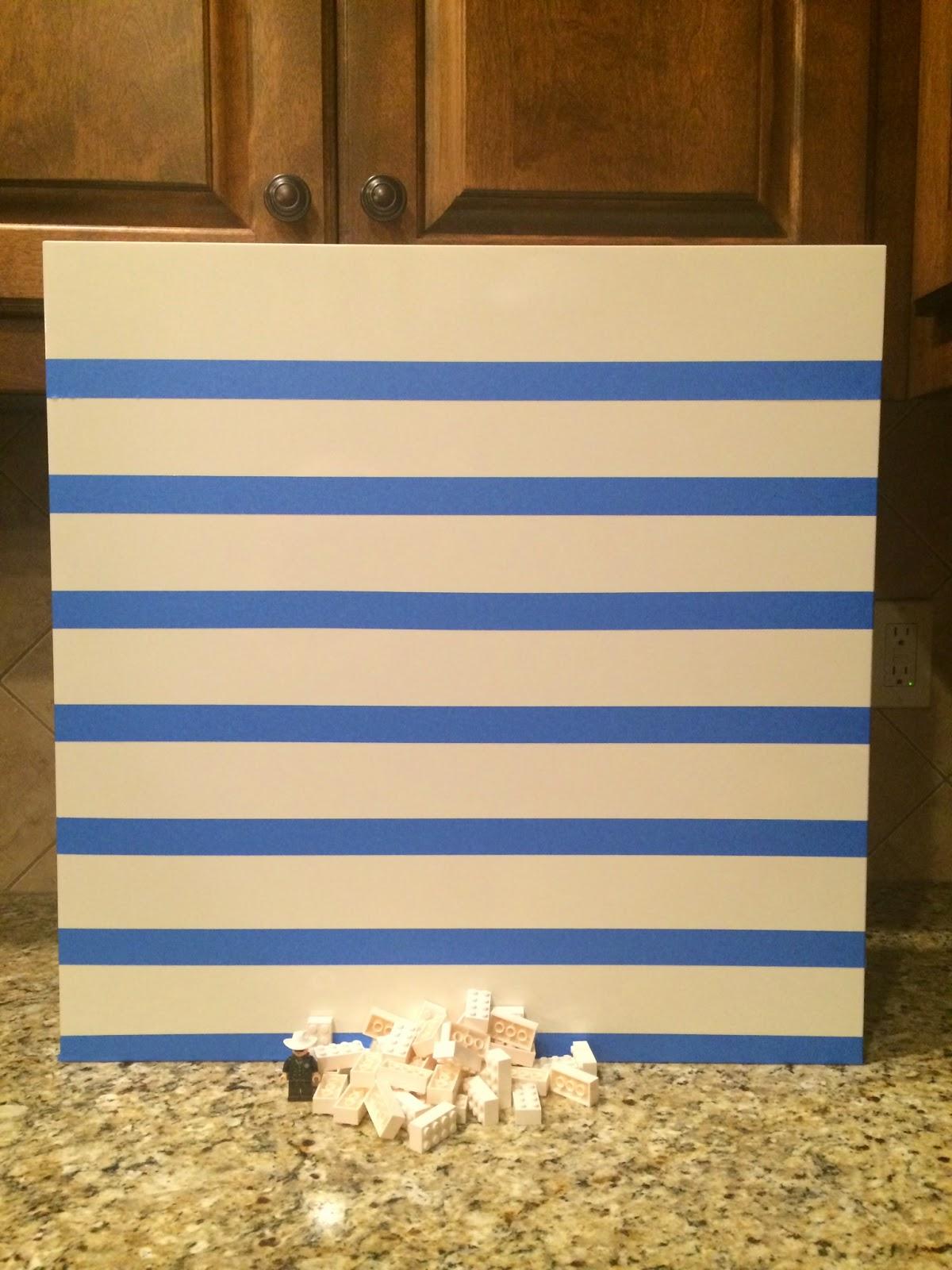 Hacked IKEA Lack Side Table into Lego Minifigure Display Wall Art