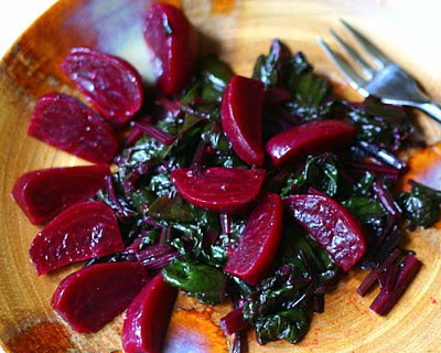 Greek Greens with Beets, one of my favorite summer salads