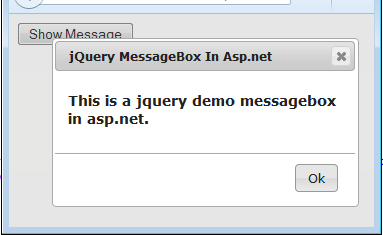 Jquery message open as modal dialog box in asp net without refresh with ok button asp net mvc - Jquery refresh div ...