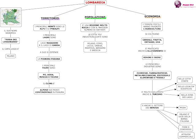 mappedsa mappa schema dsa dislessia geografia elementari regioni scuola lombardia concettuale mentale mental map cognitive school elementary lombardy learn italian