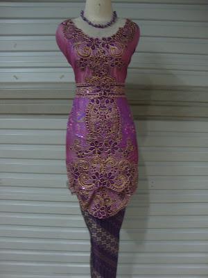 Kebaya Obi Sabrina Ungu