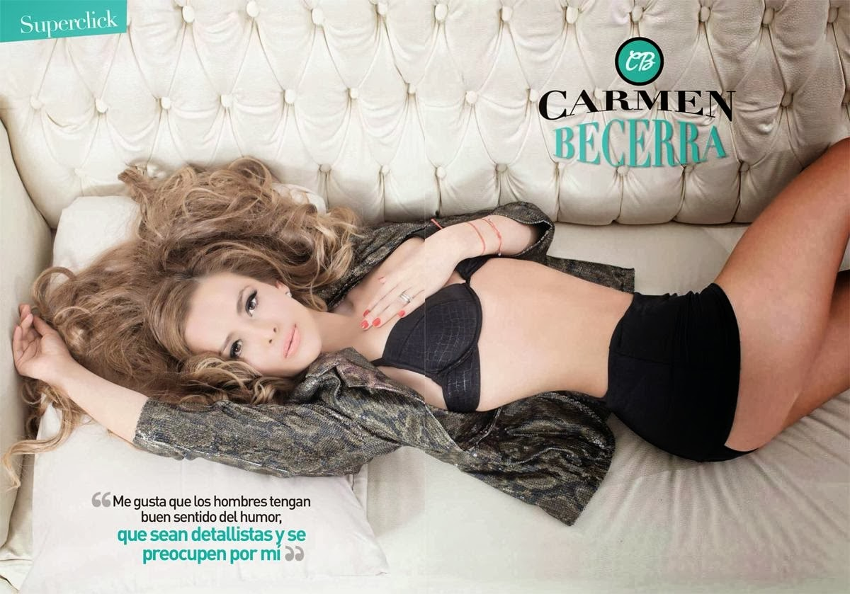 Magazine Photoshoot :Carmen Becerra Hot Photoshoot for Tvynovelas Magazine December 2013