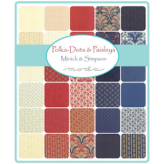 Moda POLKA DOTS & PAISLEYS Fabric by Minick & Simpson for Moda Fabrics